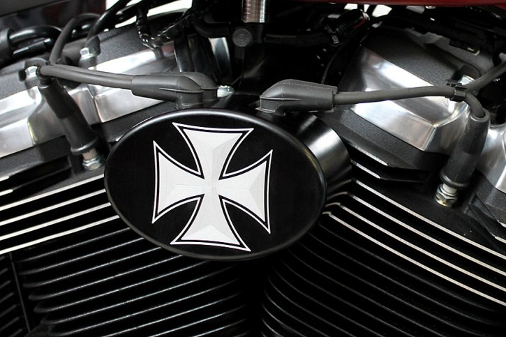 """Zündspulencover Kit """"Iron Cross"""""""